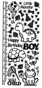 HOTP Dazzles N1613 Boy Stuff Outline Peel Sticker