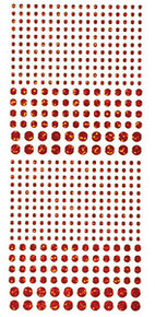 HOTP Dazzles N1557 Red Jewel Outline Peel Sticker