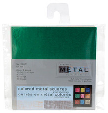 4x4 Creative Metal Squares GREEN 8PCS