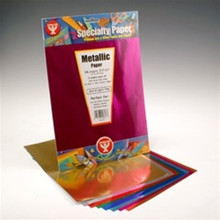 12pcs Metallic Papers 8.5x11 RED 26851 Acid & Lignin Free