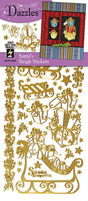 HOTP Dazzles Santa's Sleigh Stickers gold 2052