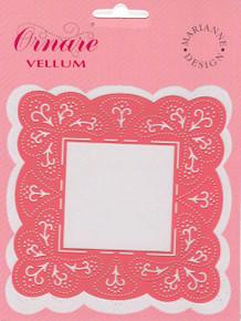 Ornare Vellum Pricking Stencil Template Square Frame