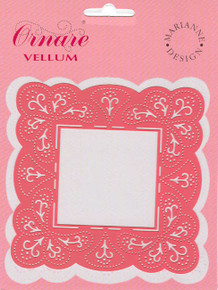 Ornare Vellum Pricking Stencil Template Square Frame