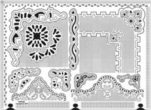 Large Piercing Embossing Template Ecstasy Crafts w/Mat