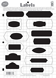 HOTP Template Labels Scrapbooking 7317