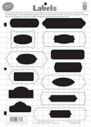 HOTP Template Labels Scrapbooking 7317