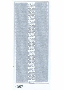 Starform N1057 GOLD WAVY LINES & CORNERS Outline Peel Sticker