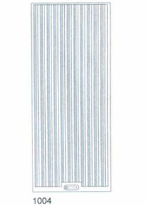 Starform N1004 SILVER THICK THIN STRAIGHT LINE Outline Peel Sticker