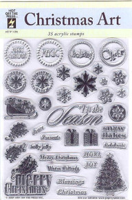 HOTP Christmas Art Rubber Stamps Unmounted 1006