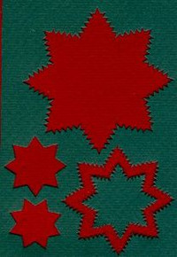 Spirelli Die Cuts GREEN & RED STARS  4059422