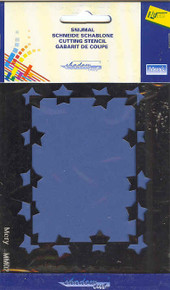 Shadow Embossing Card Making Template Stars