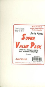 250 Cream Cards 5.5x4.25 Super Value Pack Stamping