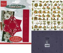 Versatile Folded Star Card Set templates cutting guide+