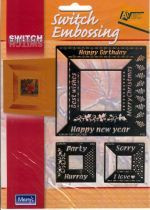 Switch Embossing Stencils Square Words Card Making