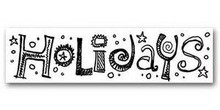 HOLIDAYS 2.5x10 Word Rub-On Karen Foster Design