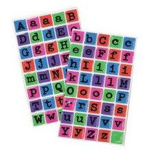 80pc KFD Bright Retro Resin Alphabet 00279