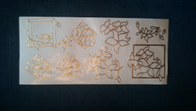 Joy! Crafts N108 Gold Outline Peel Floral Square Stickers