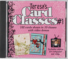 Teresa's Card Classes #1 CD HOTP 1509 132 Cards in 10 Classes CD