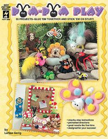 Pom Pom Play Craft Book Kids Art Decorating FUN CUTE