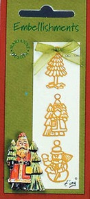 Card Charm Set Beautifully Detailed Embellishments Set4