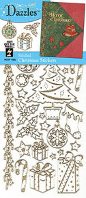 HOTP Dazzles Stitched Outline Stickers Christmas 1893