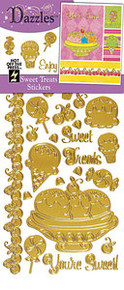 HOTP Dazzles Stickers SWEET TREATS GOLD 2015