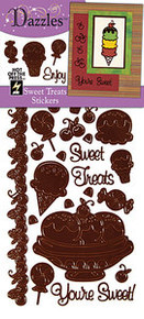 HOTP Dazzles Stickers SWEET TREATS BROWN 2014