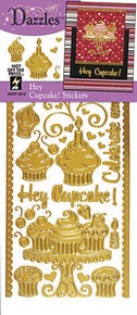 HOTP Dazzles Stickers HEY CUPCAKE! 2013 GOLD