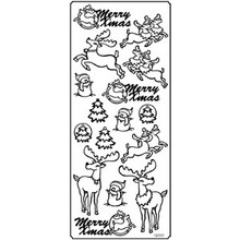 Outline N101 Silver Reindeer Peel Stickers