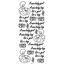 Outline N920 Gold It's a Boy / Girl Peel Stickers