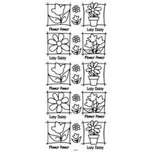 Outline N914 Silver Flowers in Frame  Peel Stickers