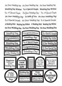 Pearl Precut Captions Sheet SILVER WEDDING