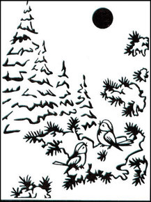 "SNow Birds Nellie Snellen 4""x6""  Embossing Folder"