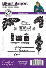 Dee Gruenig Ahhh... CHristmas! EZMount Stamp Set Limited Edition Set of 9 Deeply Etched Christmas Stamps