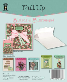 HOTP Pull Up Card 5 Die-Cut Cards & 4 Envelopes Card Blanks