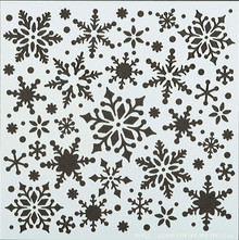 "Snowfall 6x6"" Stencil from Hot Off the Press for Chalking Inking Embossing-Paste Sprays Mists Markers More!"
