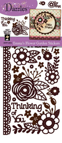 HOTP Dazzles Emma's Flowers Brown Stickers HOTP2512