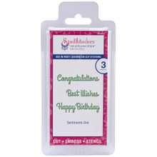 Spellbinders Die D-Lites Sentiments One S2-082 Cuttting Set