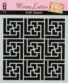 "Woven Lattice 6x6"" Stencil from Hot Off the Press for Chalking Inking Embossing-Paste Sprays Mists Markers More!"