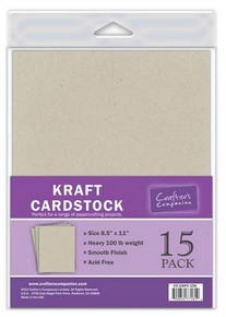 8.5X11 KRAFT Cardstock Heavy 100lb. Weight Smooth Finish Acid Free