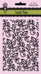 Paper Artist 6020 Leafy Vine Embossing Folder by Hot Off the Press Works in Most Popular Tabletop Die Cutting Machines
