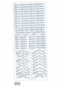 Starform N353 GOLD Variety Christmas Greeting Outline Peel Sticker
