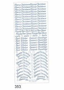 Starform N353 GOLD Variety Christmas Greeting Outline Peel Sticker
