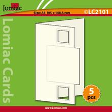 Lomiac Die-Cut A6 Blue Square Cards 5pc Card-Making