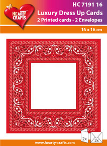 Luxury Dress Up Cards HC719116 Two Cards with White 6.5x6.5 Envelopes