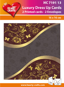 Luxury Dress Up Cards HC719113 Two Cards with White 6.5x6.5 Envelopes