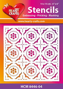 Hearty Crafts Stencil Retro HCM8446-04 for Embossing Pricking Masking Chalking Inking Paste Sprays Mists Markers More!