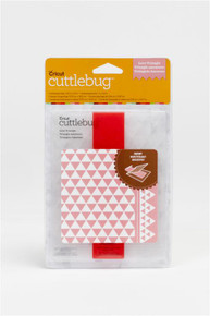 CUTTLEBUG Love Triangle  A2 Embossing Folder with Border Strip 2001932