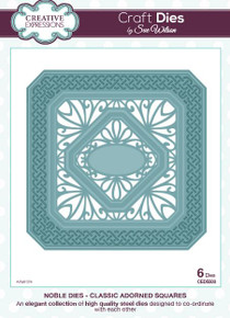Sue Wilson Noble Collection - Classic Adorned Squares Craft Die CED5503