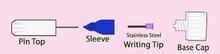 Scraperfect SMALL No-Clog Writing Cap for Fine Lines and No Clogs!
